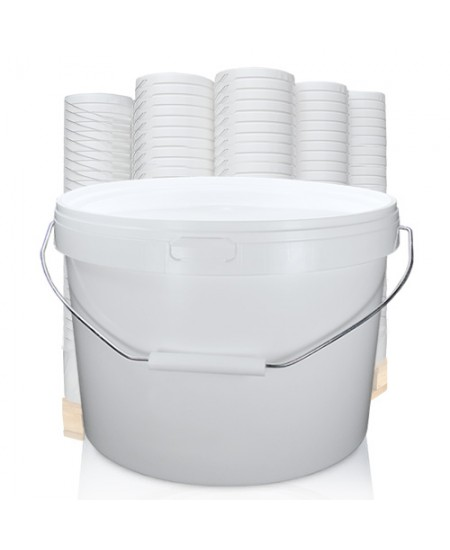 10 3 Litre Squat White Bucket With Handle And Lid