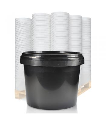 1L GL Black Pot & Black Lid (D)