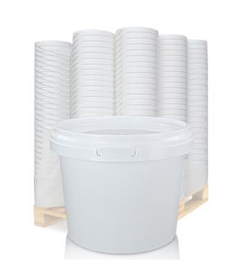 1L GL White Pot & White Lid