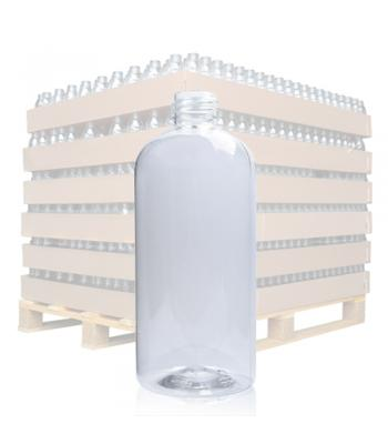 500ml Clear PET Plastic Boston Bottle With 28mm Neck