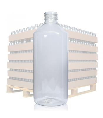 500ml Clear PET bottle with 28mm neck