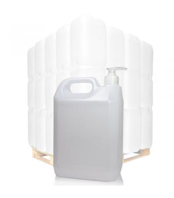 5L Natural HDPE Jerrycan With 38mm Natural Lotion Pump