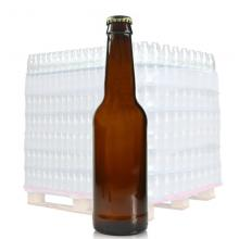330ml (1907) Amber Glass Beer Bottle & Gold Crown