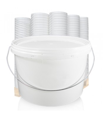 10L White Bucket with Metal Handle & Lid EZ1050