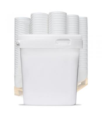2.5L VK White Square Bucket with Handle & Lid (D)