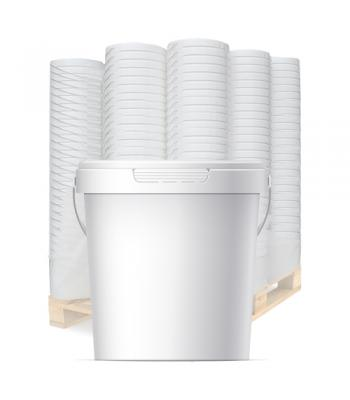 1.5L GL White Bucket with Handle & Lid (D)