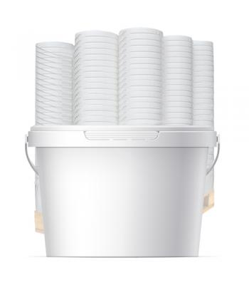 2.2L GL White Pot with Handle & Lid (D)