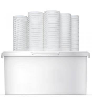 1L Square Container & Lid (P)