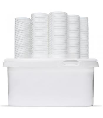 2.5L GL RHP White Rectangular Bucket & Lid (D)