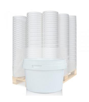 0.5L MF White Pot & White Lid (D)
