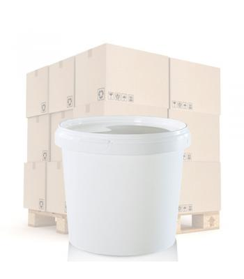 1000ml White Round Plastic T/E Pot and Lid (SP)