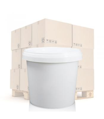 1000ml Plastic Food Pot and T/E Lid - White