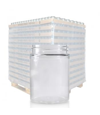 100ml Clear PET Straight Cylindrical Jar & 48mm Screw Cap
