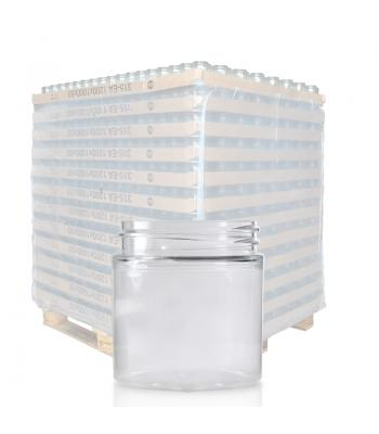 50ml Clear PET Straight Cylindrical Jar & 48mm Screw Cap