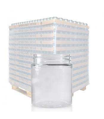 75ml Clear PET Straight Cylindrical Jar & 48mm Screw Cap