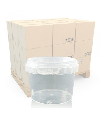 120ml Clear Round Plastic T/E Pot and Lid (SP)