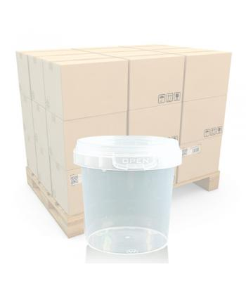 155ml Clear Round Plastic T/E Pot and Lid (SP)