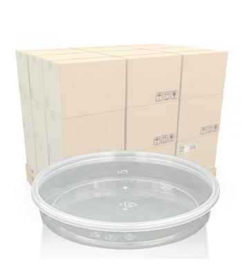 160ml Clear Round Flat Pot and Lid