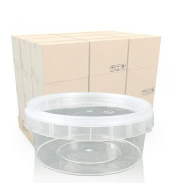 180ml Clear Round Food Pot and Lid
