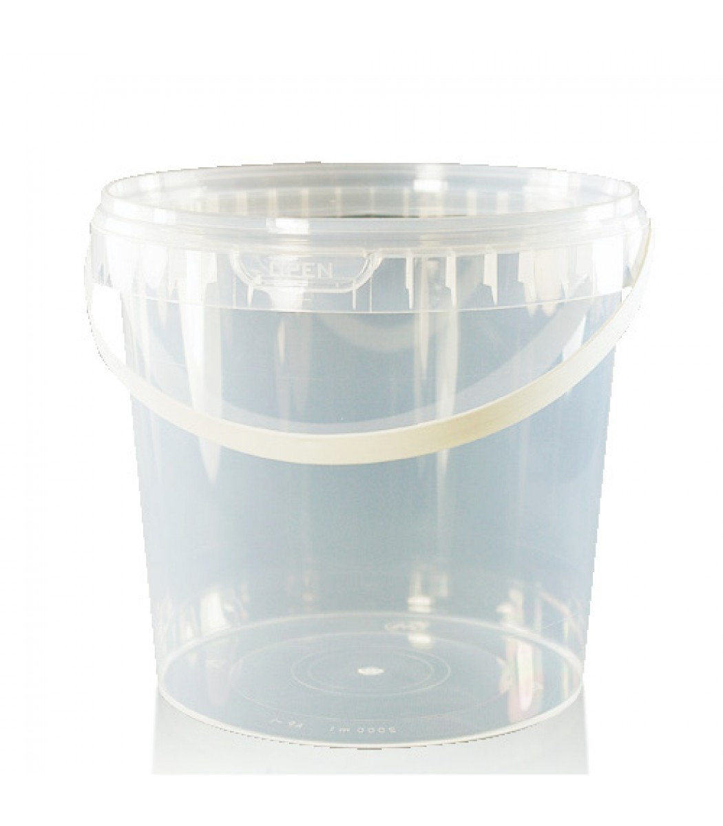 2 Litre Clear Plastic Food Tub With Handle