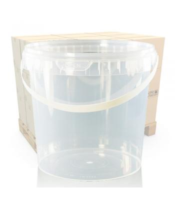 2000ml Clear Round Plastic T/E Pot, Lid and Handle (SP)
