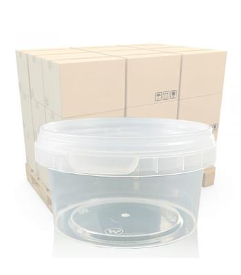 210ml Clear Round Plastic T/E Pot and Lid (SP)