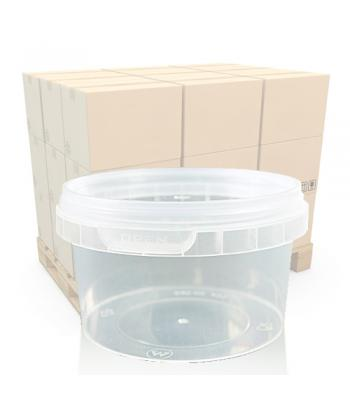 240ml Clear Round Plastic T/E Pot and Lid (SP)