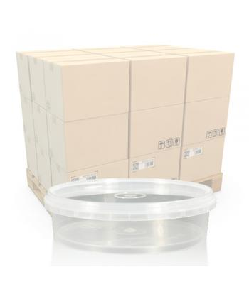 240ml Clear Round Food Pot and Lid