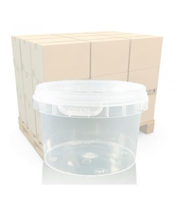 280ml Clear Round Plastic T/E Pot and Lid (SP)
