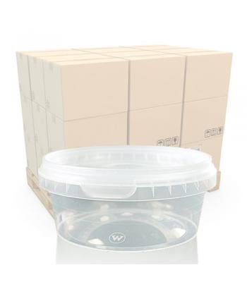 300ml Clear Round Plastic T/E Pot and Lid (SP)