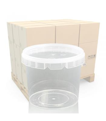 365ml Clear Plastic Food Pot and Lid - Discontinued