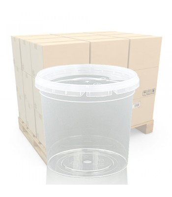 400ml Clear Round Plastic Pot and T/E Lid