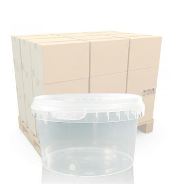 480ml Clear Round Plastic T/E Pot and Lid (SP)