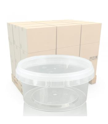500ml Clear Plastic Food Pot and T/E Lid (P118)