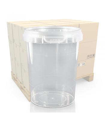 520ml Clear Round Plastic Food Pot and T/E Lid (SP)