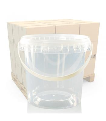 670ml Clear Round Plastic T/E Pot, Lid and Handle (SP)