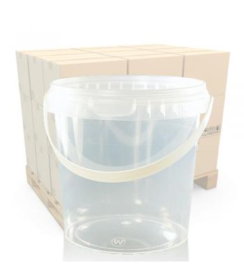 770ml Clear Round Plastic T/E Pot, Lid and Handle (SP)