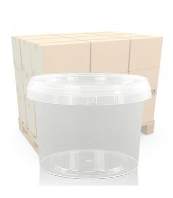 800ml Clear Round Plastic Pot and T/E Lid