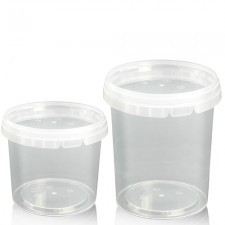 Plastic Food Tubs - Round
