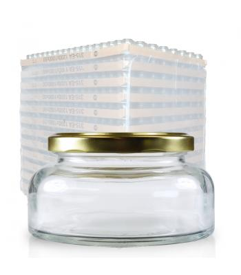314ml Clear Glass Lucy Jar & 82mm Gold Lid