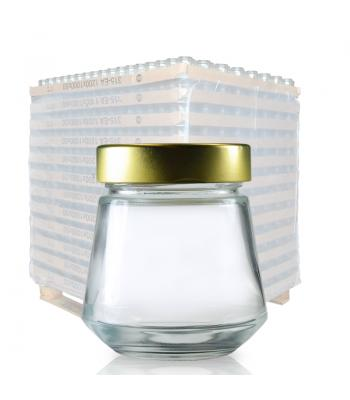 314ml Clear Glass Sake Jar & 70mm Gold Lid