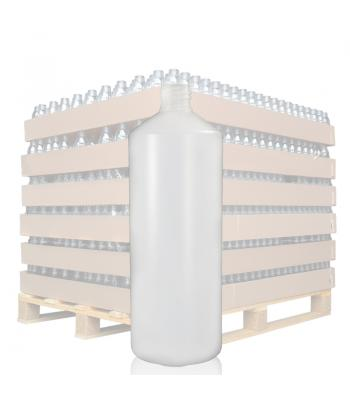 1L Natural HDPE Round Bottle with 28mm Neck
