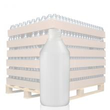 250ml Natural HDPE Round Bottle with 28mm Neck