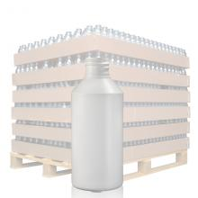 250ml White HDPE Round Bottle with 28mm Neck