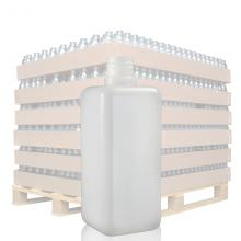 500ml Natural Square HDPE Bottle with 28mm Neck