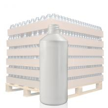 500ml White HDPE Round Bottle with 28mm Neck