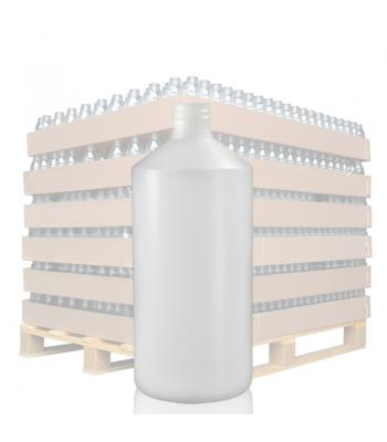 750ml Natural HDPE Round Bottle with 28mm Neck