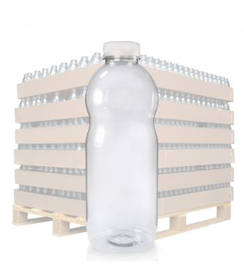 1000ml Clear PET Curvy Juice Bottle & 38mm T/E Cap (D)