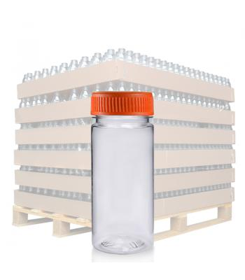 100ml Clear PET Slim Juice Bottle & 38mm T/E Lid (D)