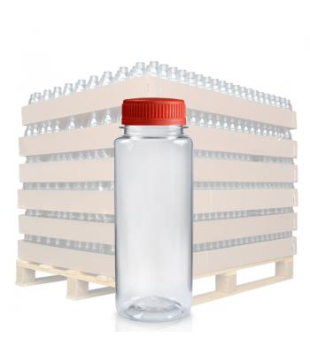 150ml Clear PET Slim Juice Bottle & 38mm T/E Lid (D)